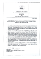 COURT DIRECTIVE – 1 MAY TO 31 MAY 2020