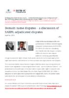 Domain name disputes – a discussion of SAIIPL adjudicated disputes – De Rebus