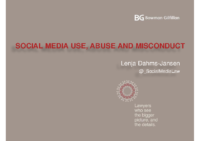 Lenja Dahms-JansenSocial Media and Employment- Lex Informatica Conference 2013