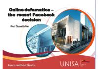 Online defamation_recent Facebook decision_SN
