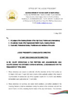 Consolidated Directive re Court Operations in the High Courts of the Gauteng Division during the covid-19 pandemic_11 05 2020