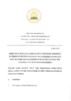 SIGNED DIRECTIVE BY THE HONOURABLE CHIEF JUSTICE MOGOENG MOGOENG